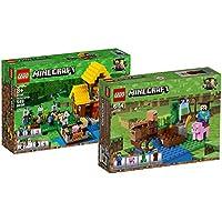Lego Minecraft 21144–Farm Casita + Lego Minecraft 21138–Melón SOSTENIBLE