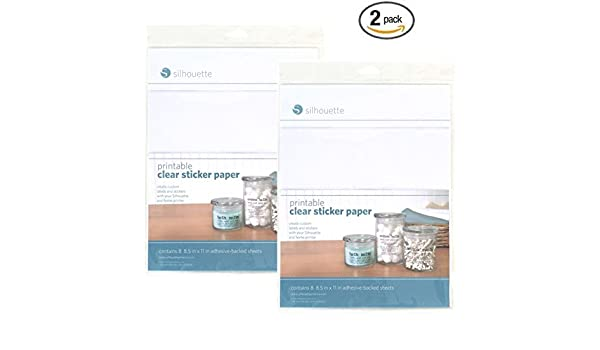 buy silhouette printable clear sticker paper pack of 2 online at low prices in india amazonin