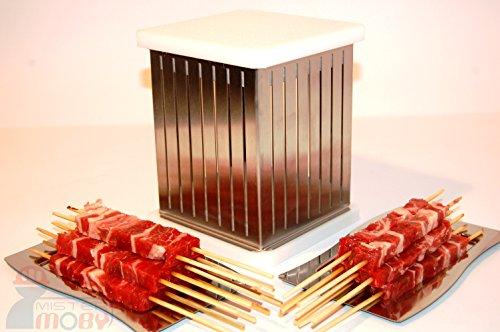 Mistermoby Cubo Inox Fabbrica Arrosticini Spiedini Carne Frutta Kebab Prezzo Imbattibile!