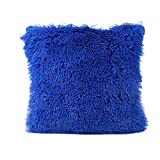 Pillow Case, Keepwin Push Decorative Throw Cushion Cover for Sofa Bench Home Bed Party Decor (Blue)