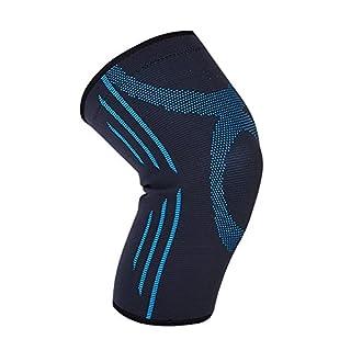 Kompressions-Kniestütze, Kompressions-Kniestütze für Gelenkschmerzen, Arthritis, Verletzungserholung, Meniskusriss, ACL, MCL, Tendinitis(M-black blue1)