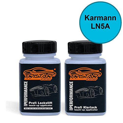 Preisvergleich Produktbild Lackstift Set Karmann LN5A Hellblau / Kuehne&Nagel-Hellblau - Autolack & Klarlack - je 50 ml