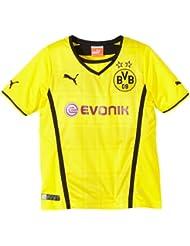 PUMA - Camiseta de fútbol para niño, diseño del Borussia Dortmund, color amarillo y negro, talla S
