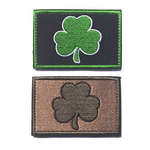Southyu 4 Stück Texas State Lonely Star Flag Taktische Morale Patches Badge bestickt Punisher Skull Militär Emblem Haken und Schlaufe Patch 2 pieces Subdued Irish patch Irish Patch Cap