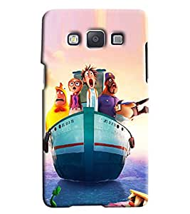 Clarks Tailor Saling Hard Plastic Printed Back Cover/Case For Samsung Galaxy E7