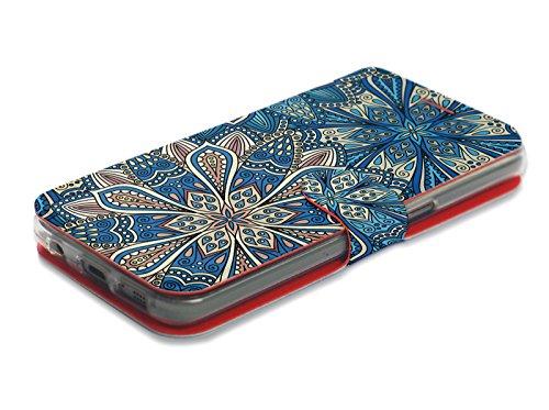 MOBIWEAR Book Style Handy Motiv Tasche Flip Case Cover Hülle für LG X Power2 - V108P