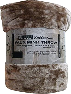 Faux Fur Throw 18 Colours , Single, Double & King 1-2-3 Seater Sofa / Bed Blanket Throw - inexpensive UK light store.