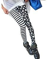 Dayiss® Damen Stern Stripe Leggins Leggings Strumpfhosen Stretchy Legings Legins Hose