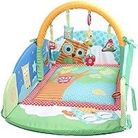 Labebe - Eulen Reisebett für Babys Spieldecke mit Zaun und Eulen-Spielbogen preisvergleich bei kleinkindspielzeugpreise.eu