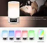 LED Touch Nachttischlampe, Wireless Bluetooth Lautsprecher, Smart Touch Control Dimmbare Nachtlicht, tragbare Tischlampe, Geschenke für Frauen Männer Jugendliche Kinder Schlafhilfe