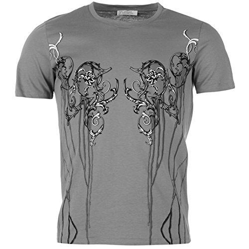 versace-collection-homme-t-shirt-tee-top-haut-manche-courte-col-rond-casual-gris-melange-x-large