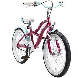 """BIKESTAR Bicicletta Bambini 6-7 Anni Bici Bambino Bambina 20 Pollici Freno a Pattino e Freno a retropedale 20"""" Cruiser…"""