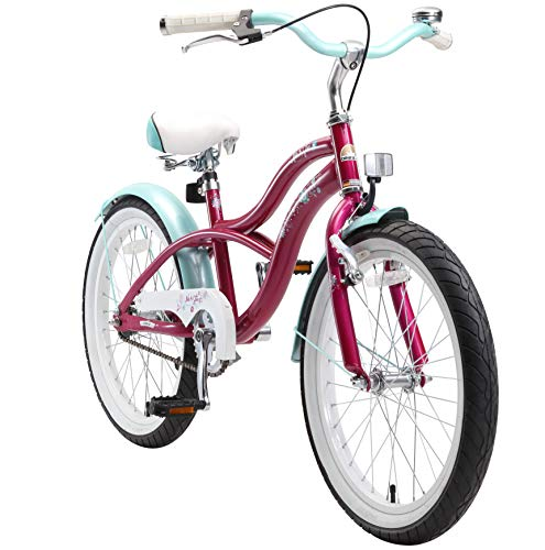 "BIKESTAR Bicicleta Infantil para niños y niñas a Partir de 6 años | Bici 20 Pulgadas con Frenos | 20\"" Edición Cruiser Lila"