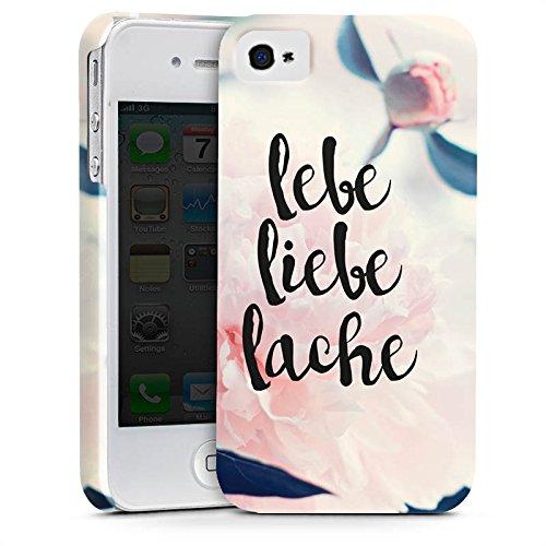 Apple iPhone X Silikon Hülle Case Schutzhülle Love Lebe Liebe Lache Blumen Premium Case glänzend