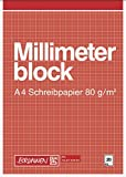 Brunnen Millimeterblock - Carta millimetrata formato A4, 298 x 211 mm, 20 fogli, colore: Ruggine