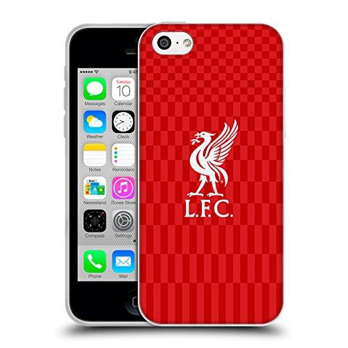 Officiel Liverpool Football Club Rouge Logo Sur Blanc Liver Bird Étui Coque en Gel molle pour Apple iPhone 6 / 6s Blanc Sur Rouge Kit