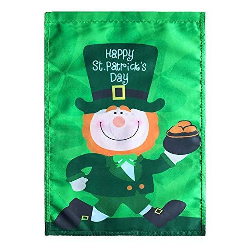 Eternitry St Patrick Tagesflagge irische grüne Fahnen-Karikatur Nette Partei kennzeichnet Festliche Atmosphäre-Fahnen-Ausgangsdekoration für Innen im Freien