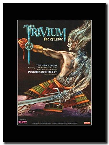 Trivium-Crusade Magazine Promo su un supporto, colore: nero