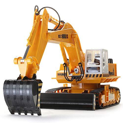 YTBLF 2.4G Acht-Wege-Legierung Bagger Drahtlose Fernbedienung Bagger Kinder Aufladen Fernbedienung Auto Spielzeug