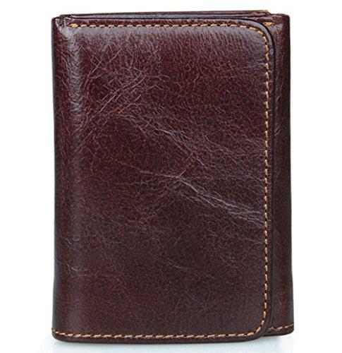 Edmen Premium Herren-Portemonnaie und Geldbörse aus hochwertigem Leder mit RFID-Blocker (Coffee)