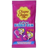 Chupa Chups Cotton Bubble Gum, 14 x 11 g Vorratspackung, Zuckerwatte-Kaugummi mit Tutti-Frutti Fruchtgeschmack