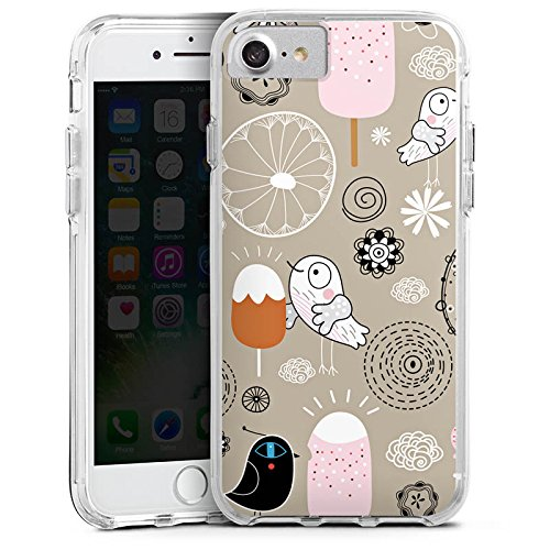 Apple iPhone 6s Bumper Hülle Bumper Case Glitzer Hülle Birds Love Icecream Eis Ice Bumper Case transparent