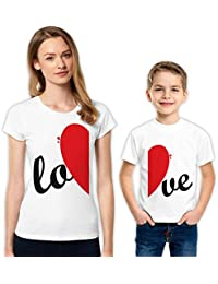 LO-VE madre e hijo familia camisas a juego