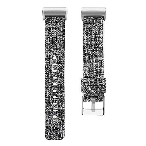 Preisvergleich Produktbild TianranRT Ersatz Gewebt Leinwand Stoff Uhr Band Handgelenk Strap gewebter Canvas Uhrenarmband Armband Fitbit Charge 3