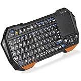 Donzo universal Mini BT v3.0 Bluetooth Tastatur mit Touchpad (QWERTZ, micro-USB) für Smartphone/TV/PC/Laptop schwarz