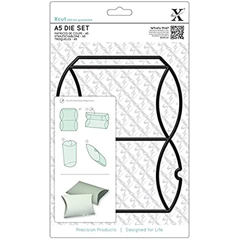 Docrafts Pillow Box Die Set, Black,