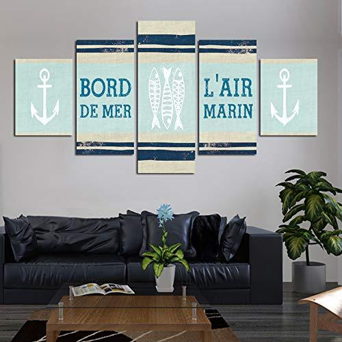zlhcich HD Druck malerei Bild bootshaken wandkunst Poster Moderne Wohnzimmer leinwand rahmenlose 40 * 60 40 * 80 40 * 100