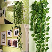 BS AMOR Artificial Fancy Garland Money Plant Leaf Bail/ Creeper | Wall Hanging | Speacial Ocassion Decoration | Home…