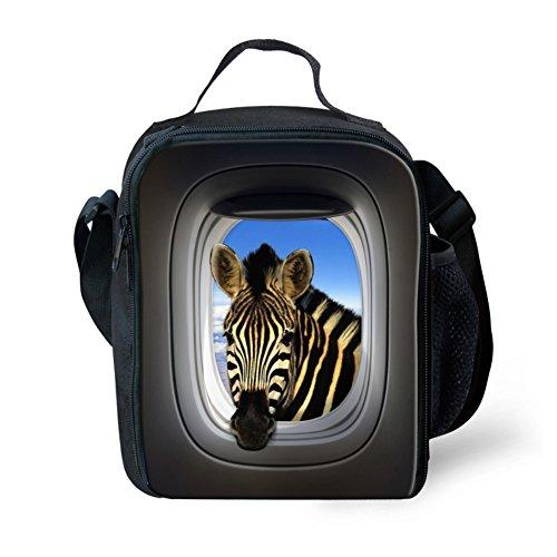 Showudesigns carino stampa animale borsa porta pranzo per bambini con tracolla, color 7, small color 8