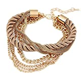 Fashion Jewel Elegante geflochtenen Seil Multilayer Armband Handkette Schmuck