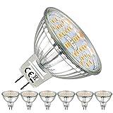 EACLL GU5.3 LED Warmweiss 2700K MR16 12V 6W 580 Lumen Leuchtmittel Entsprechung 75W Halogen lampen, 120 ° Warmweißes Licht Reflektorlampe, 6 Pack