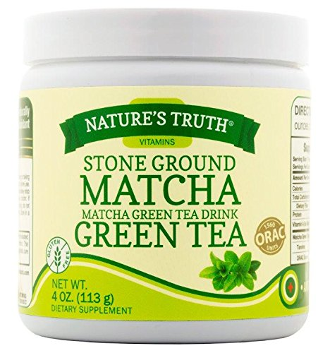 Nature's Truth Stone Ground Matcha Green Tea Drink Powder, 4 Fluid Ounce by Nature's Truth