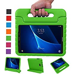 LEADSTAR Samsung Galaxy Tab A 10.1 EVA Etui Poignée Stand Étui Enfants Housse Antichoc Protecteur Kids Coque Anti-Chocs pour Samsung Galaxy Tab A 10.1-pouces SM-T580 SM-T585(Vert)