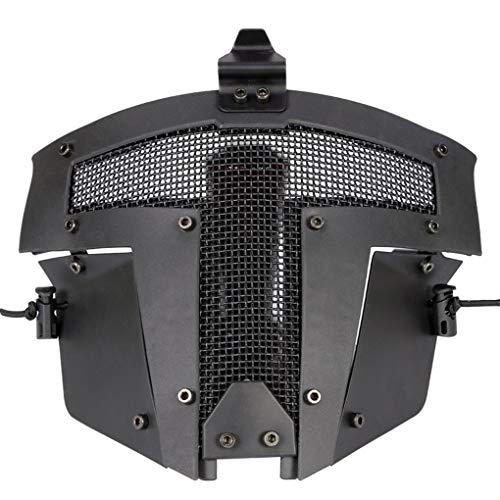 tall Stahl Netz-Ineinander greifen-Masken-Jagd-CS Spiel-Halloween-Party Cosplay volles Radfahren Gesichtsmaske ()