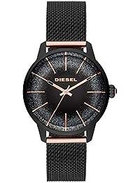 c2dbafa839ab Diesel Reloj Analógico para Mujer de Cuarzo con Correa en Acero Inoxidable  DZ5577