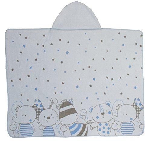 Ti TIN Capa de Baño Toalla de Bebé con Estampado y Capucha 100% Algodón, Colores Sólidos, 100x100 cm