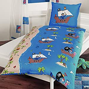 4uniq biancheria da letto per bambini in patchwork ottica pirat cuscino copri piumino - Biancheria da letto bambini ...