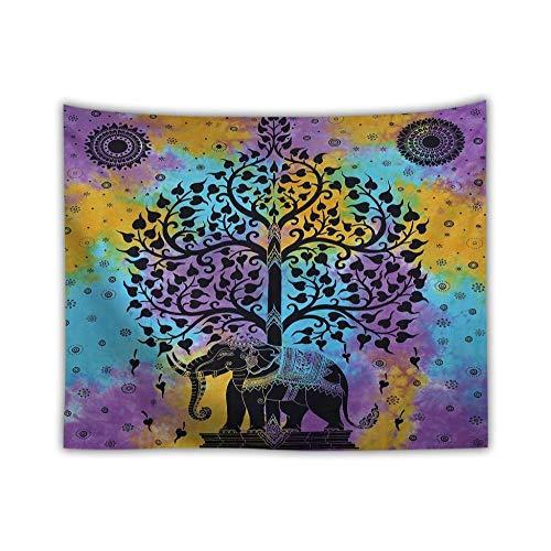 FDONTR Árbol De La Vida Tapiz De Elefantes Hippie Mandala Bohemio Colgante...