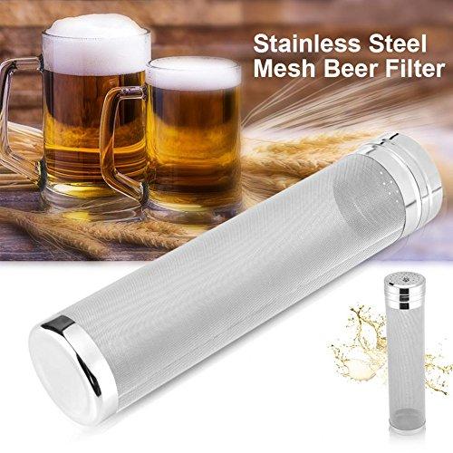 Merday Bazooka Screen, Stainless Steel 12 '' Tubo de la Caldera Mash Tun Filtro de Malla Bazooka Spigot Pot Filter Pantalla de la Ebullición Brew para Home Brew