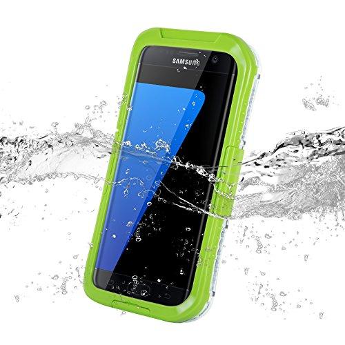 JAMMYLIZARD   Cover custodia SALAMANDER Impermeabile Waterproof per Samsung Galaxy S7 Edge, VERDE