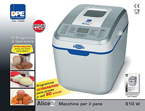 DPE - Alice 2 - Macchina Automatica per il Pane - 12 Programmi - 610W