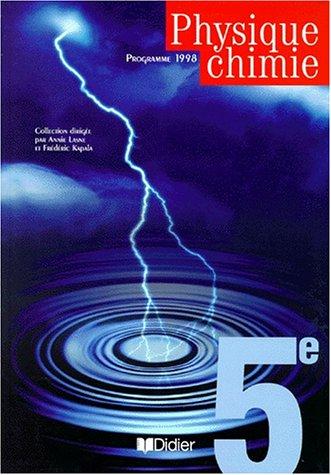 Physique chimie 5ème (livre de l'élève)