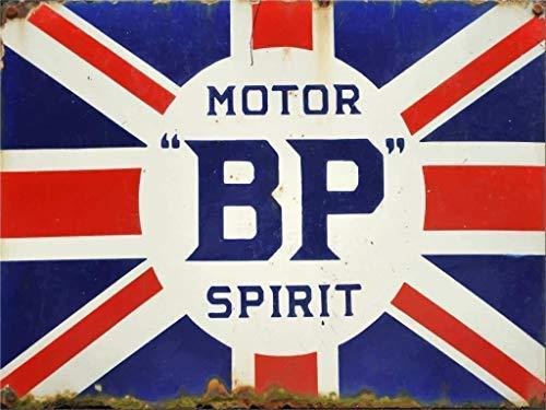 qidushop Wandschild im Vintage-Stil, britische Bp Motor, Union Jack, UK dekorative Metallschilder für Frauen (Jack Motor)