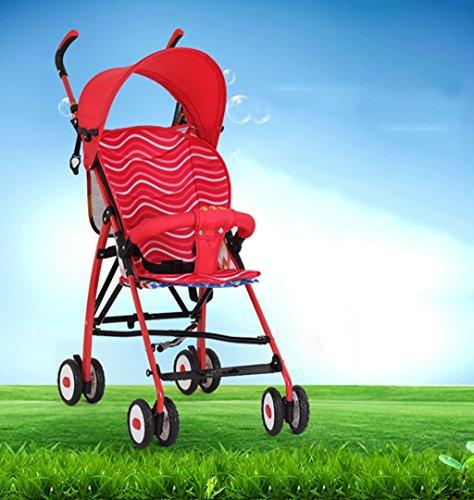 &Baby Kinderwagen Leichter Regenschirm des Kinderwagens tragbarer faltender einfacher Babykleinkinderwagen Mini