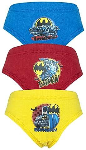 Batman Comic 3er Pack Jungen-Hosen / Briefs - 3-8 Jahre