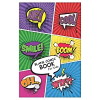 "Blank Comic Book for Kids: Create Your Own Comics With This Blank Comic Book Journal Notebook Over 100 Pages Large Big 6"" x 9"" Blank Comic Books Journal"